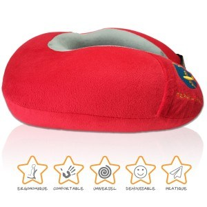 coussin Udream rouge par Travel Earth