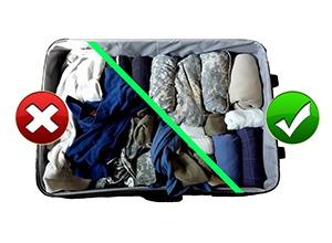 Comment faire sa valise efficacement et sans perdre de place en 2018 - Plier ses vetements pour gagner de la place ...