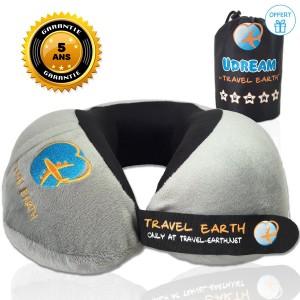 oreiller de voyage Udream gris