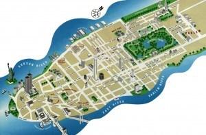 plandenewyork_cartedenewyork http://www.carnet-de-voyage.net newyork carte plan map 3D manhattan